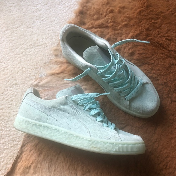 official photos 0426e 2c244 Puma — Suede Classic Agave Green Sneakers